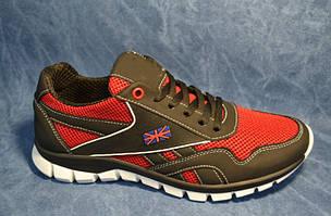 Кроссовки мужские Модель 50 красно-черные 40