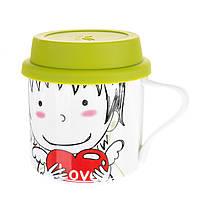 Чашка с крышкой Unicorn Studio 300 мл 002RA-C