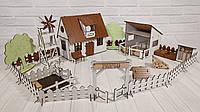 Фарбований ляльковий будиночок для LOL Сільський Будиночок з Фермою, меблями і світлом, фото 1