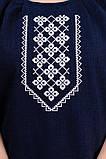 Женская блуза вышиванка (темно-синий), фото 4