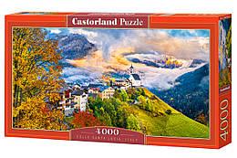 """Пазлы """"Колле Санта Лючия, Италия"""", 4000 элементов (пейзаж, природа, лес, архетектура, горы, горный пейзаж)"""