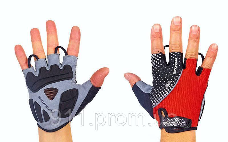 Велоперчатки текстильные SCOYCO ВG12 (открытые пальцы, р-р S-XXL, цвета в ссортименте)