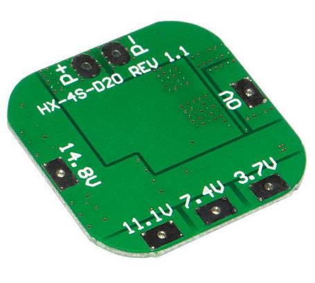 BMS Контроллер 4S 20A 16.8V для 4-х аккумуляторов Li-Ion, фото 2