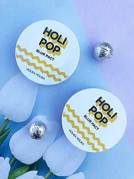 Компактная пудра Holika Holika 10.5 грамм Holi Pop Blur Pact 01(Light Beige)- светлый тон