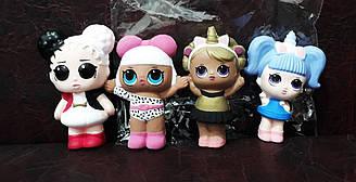 Сквиш-антистрес лялька LOL 4 штуки