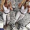 Майка женская с цепочкой. Размер S, M. Ткань турецкая вискоза, цвет белый, чёрный, серый, неон коралл, фото 3