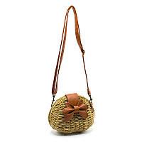 Плетеная маленькая сумка Yoke