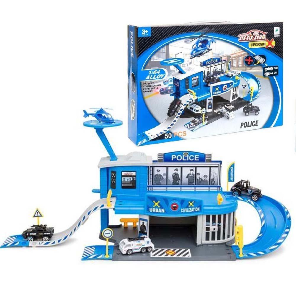 """Паркинг игрушечный """"six-six-Zero: Полицейский участок"""" (игровой набор в подарочной упаковке)"""