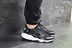 Мужские кроссовки Nike Huarache Fragment Design (черно/белые), фото 3