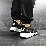 Мужские кроссовки Nike Huarache Fragment Design (черно/белые), фото 4