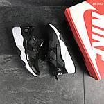 Мужские кроссовки Nike Huarache Fragment Design (черно/белые), фото 6