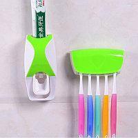 Диспенсер дозатор для зубной пасты и щеток автоматический ZGT SKY ЗЕЛЕНЫЙ