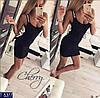 Женское платье майка Love. Размер  S-M. Ткань турецкая вискоза, цвет чёрный, серый, красный, фото 2