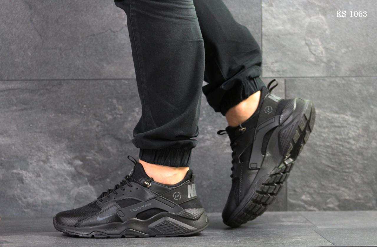 Мужские кроссовки Nike Huarache Fragment Design (черные)