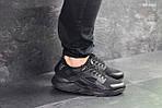 Мужские кроссовки Nike Huarache Fragment Design (черные), фото 2