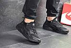 Мужские кроссовки Nike Huarache Fragment Design (черные), фото 3