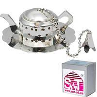 Заварник для чая в чашке с подставкой 6 2,5 см, декор Чайник Snt 37223