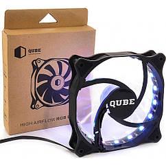 """Вентилятор QUBE RGB Aura (QB-RGB-120-18) """"Over-Stock"""""""
