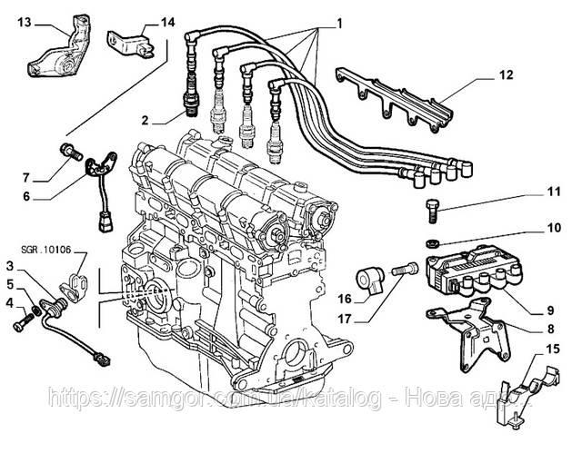 Катушка зажигания Fiat Doblo 1,6 Bipower (2002-2010) Valeo