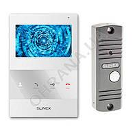 Комплект видеодомофона Slinex SQ-04M белый с вызывной панелью ML-16 HR серый антик, камерой LightVision VLC-11