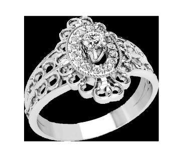 Кольцо женское серебряное Julia 10448