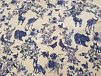 Креп шелк Волшебный лес ткань для одежды, фото 1