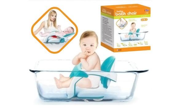 Детское раскладное кресло для купания baby bath chair 2 в 1