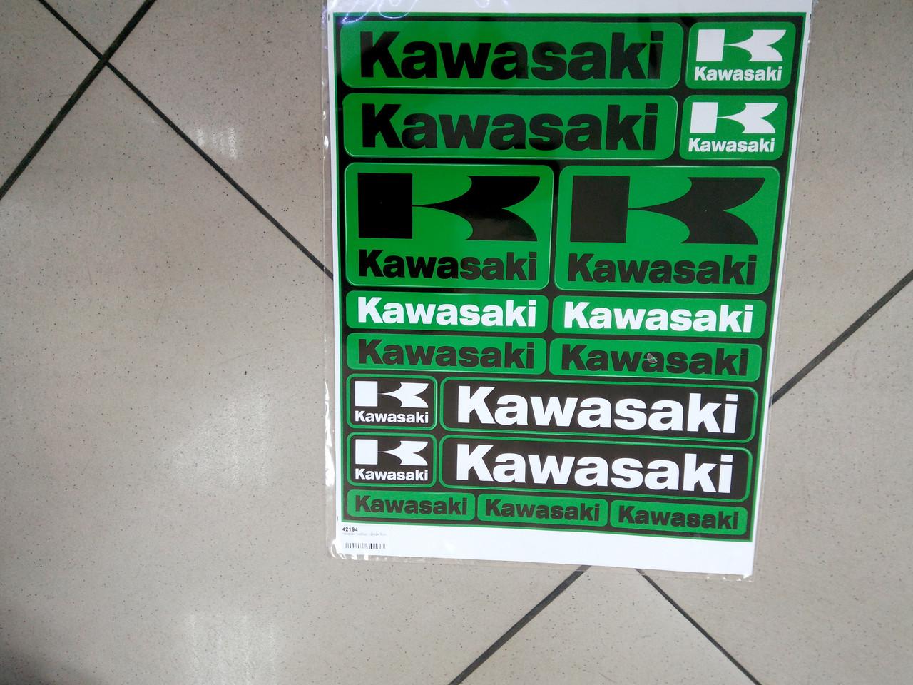 Набор виниловых наклеек  KAWASAKI  29х24,5 см