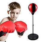 Детский тренажер для бокса Sport Toys Punching Ball | напольная боксерская груша на подставке + перчатки, фото 7