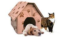 Переносной домик для собак Portable Dog House - мягкая будка для собак   домик для животных