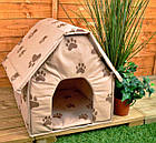 Переносной домик для собак Portable Dog House - мягкая будка для собак | домик для животных, фото 2