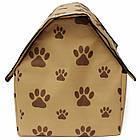 Переносной домик для собак Portable Dog House - мягкая будка для собак | домик для животных, фото 7