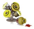 Набор баночек для специй и приправ Pop Up Spice Rack из 6 сосудов | спецовник 6 шт, фото 5