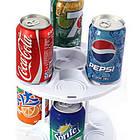 Органайзер для холодильника CAN TAMER | вращающаяся подставка для банок и консерв, фото 3