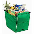 Складная хозяйственная сумка для покупок Grab Bag (2 шт.) Snap-on-Cart Shopping Bag, фото 2