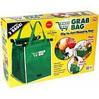 Складная хозяйственная сумка для покупок Grab Bag (2 шт.) Snap-on-Cart Shopping Bag, фото 5