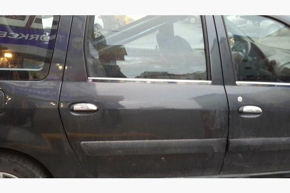 Накладки на ручки (4 шт, нерж.) Renault Logan MCV 2008-2013 гг.