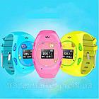 Розовые детские часы с GPS-трекером G65   смарт часы   умные часы, фото 3