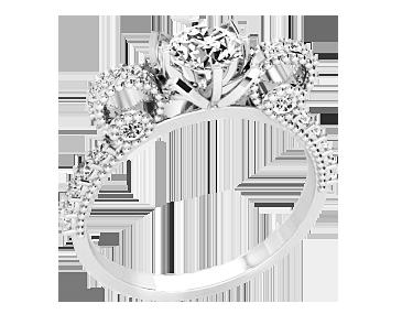 Кольцо женское серебряное Цветок 10451