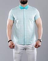 Чоловіча сорочка з коротким рукавом, фото 1