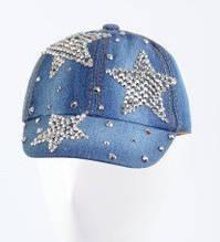 Детская бейсболка камни 44-46 голубой джинс от 1-4 лет