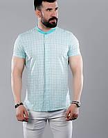 Мужская рубашка с коротким рукавом , фото 1