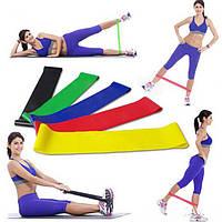 Резинки для фитнеса. Набор 5шт. + чехол, фитнес-резинки, резиновые петли, эспандер-кольцо, эспандер.