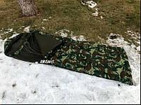 Спальный мешок (спальник) одеяло с капюшоном зимний VMSport Зима (sp-010)
