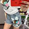 Костюм футболка+шорты,ткань: трикотаж и деним. Размер: М-90/92 Л-92/94 . Разные цвета (0572), фото 3