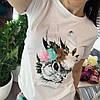 Костюм футболка+шорты,ткань: трикотаж и деним. Размер: М-90/92 Л-92/94 . Разные цвета (0572), фото 4