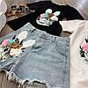 Костюм футболка+шорты,ткань: трикотаж и деним. Размер: М-90/92 Л-92/94 . Разные цвета (0572), фото 9