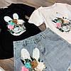 Костюм футболка+шорты,ткань: трикотаж и деним. Размер: М-90/92 Л-92/94 . Разные цвета (0572), фото 10