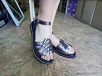 Стильные кожаные босоножки металик Terra Grande