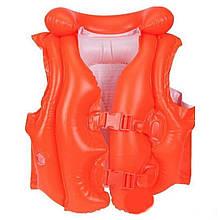 """Детский надувной жилет Intex 58671 NP """"Люкс"""", от 3 до 6 лет (50*47 см), красный"""